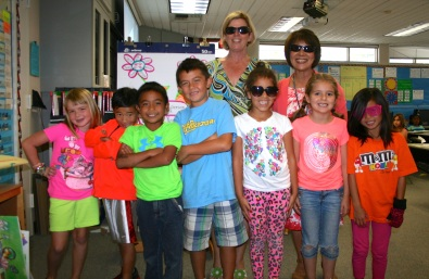 Principal Emiko Nakamura, teacher Bonnie Hunt and Casillas students 'Too Bright for Drugs'