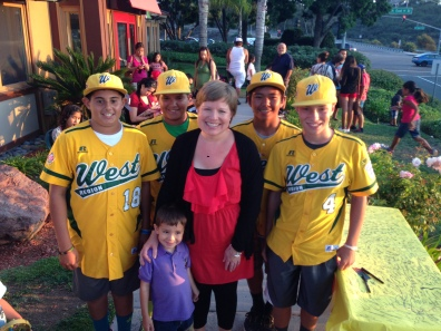Casillas Teacher Lisa Johnson, center, U.S. Little League Champions.
