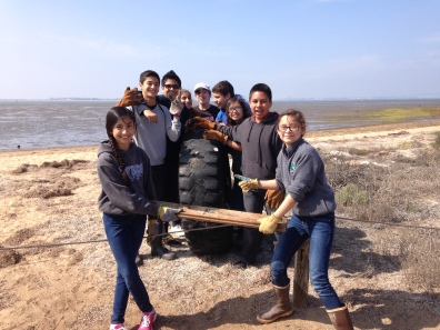 "Students from Chula Vista Learning Community Charter (CVLCC) school recently participated in a ""Beautify the Bay Program"" at the Living Coast Discovery Center."