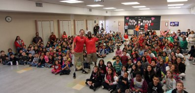Halecrest Elementary students enjoy visit from Paralympians.