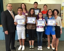Hilltop Drive Elementary recipients of Masonic Awards.