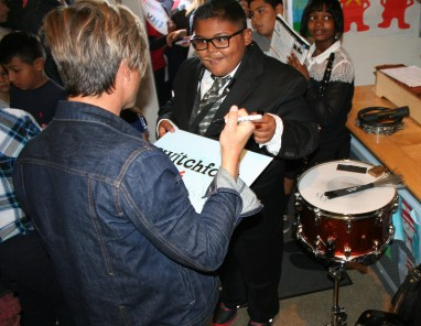 Sixth grade student Arturo Palomares is learning the saxophone, and has already played in front of Grammy Award-winning band Switchfoot.