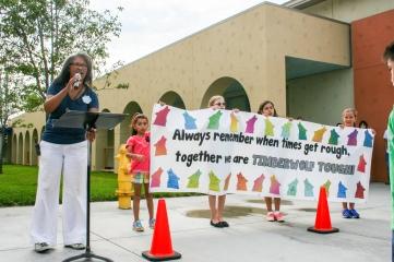 Wolf Canyon Principal Debra McLaren (l) is a champion of arts education.